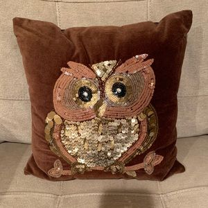 🦉❤️ OWL SEQUEN SUEDE PILLOW 🦉❤️